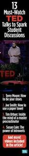 13 must watch ted talks to spark student discussions weareteachers