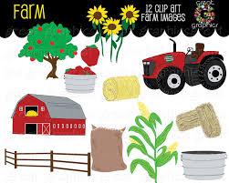 farm clipart fall festival apple digital farm clip art red