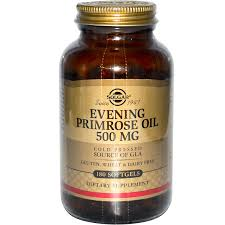 Evening Primrose Oil For Hair Loss Solgar Evening Primrose Oil 500 Mg 180 Softgels Iherb Com