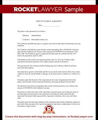 debt settlement letter settlement letter sample rocket lawyer