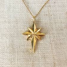 necklace pendant star images Star bethlehem handcast 14k gold pendant necklace jpg