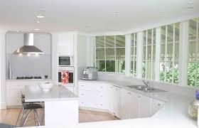 simple white kitchen interior design