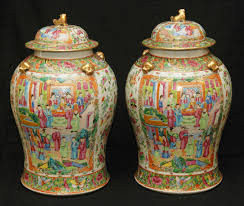 Chinese Hand Painted Porcelain Vases 19th Century Chinese Four Panel Famille Rose Porcelain Screen