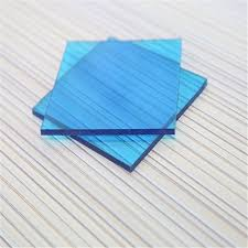 blue fireproofed good quality plastic polycarbonate roofing sheet
