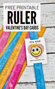 ruler valentines free printable valentine u0027s day card for kids