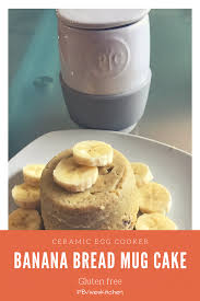banana nut mug cake using pampered chef ceramic egg cooker www