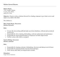 Kitchen Staff Resume Sample by Simple Kitchen Steward Resume Sample To Help Job Seekers Create