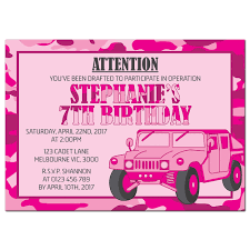 printable army party invitations for girls kate clare