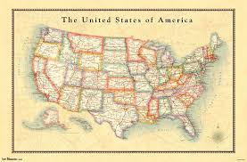 Usa Map Picture by Amazon Com Trends International Usa Map Wall Poster 22 375