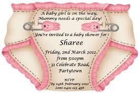 sles of baby shower invitations nappy invitation sle baby