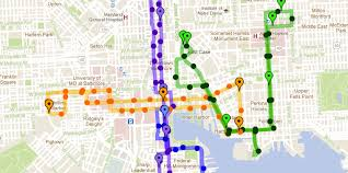 baltimore routes map circulatorbuddy use this map to track charm city circulator buses