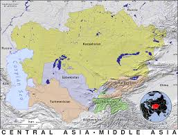 Russia And Central Asia Map by Central Asia Public Domain Maps By Pat The Free Open Source