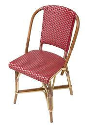 Woven Bistro Chairs French Cafe Chairs Rattan Unique Elegance French Rattan Bistro