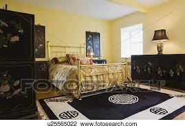 ameublement chambre banque de photo maître chambre à coucher à laiton lit