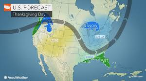 thanksgiving weather 2005 2017