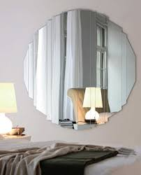 home decoration smart cracked round mirror wall decor with