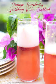 summer cocktail recipes orange raspberry sparkling wine cocktail living sweet moments