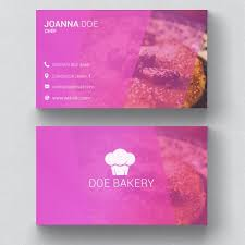 Business Card Layout Psd Bakery Business Card Template Psd File Free Download