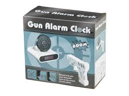 gun alarm clock buy it at coolstuff com