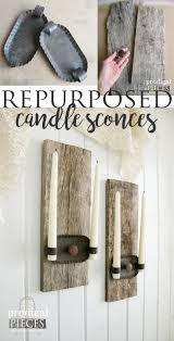 Candle Sconces Pottery Barn Rectangular Iron Amp Glass Wall Mount Candle Sconce Pottery Barn