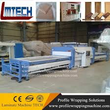 pvc foil cabinet door panel vacuum membrane press machine