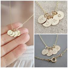 childrens gold necklace tiny gold initial necklace mothers necklace necklace