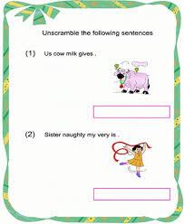 jumbled sentences worksheets for kindergarten jumbled best free