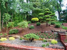 Backyard Hill Landscaping Ideas Landscaping Designs Landscape Asian With River Rock River Rock