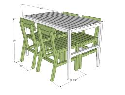 Free Wooden Patio Table Plans by Ana White Harriet Outdoor Dining Chair For Small Modern Spaces