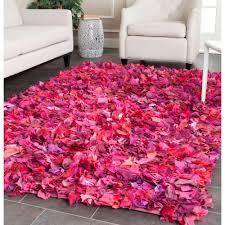 Colorful Shag Rugs Safavieh Rio Shag Fuchsia Multi 8 Ft X 10 Ft Area Rug Sg951f 8