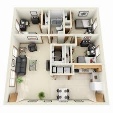 Inexpensive Home Decor Online 25 More 3 Bedroom 3d Floor Plans 2 Loversiq