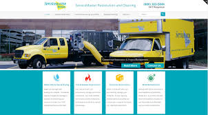 servicemaster restoration u0026 cleaning seo website redesign project