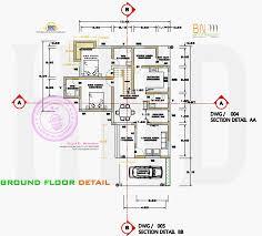 3 bedroom flat plan drawing ground floor detail gif