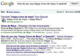 how do you say happy cinco de mayo in search query