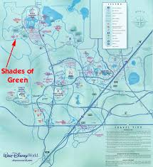 Map Of Disney World Magic Kingdom by A Review Of Shades Of Green Resort