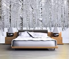 chambre foret déco chambre que diriez vous de dormir dans une forêt enneigée