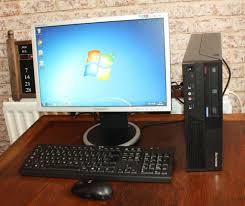 Ebay Desktop Computer Bundles by Lenovo Desktop Computer Set With Wifi Monitor Keyboard Mouse