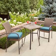 Blue Mosaic Bistro Table by Extraordinary Charlestoncushions Hampton Bay Corranade Wicker