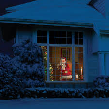 Outdoor Christmas Light Projector by The Superior Holiday Scene Projector Hammacher Schlemmer