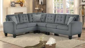 Sectional Sofa Homelegance Sinclair Reversible Sectional Sofa Gray Fabric