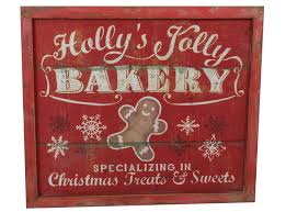 rustic wood bakery sign christmas decorations xmas gifts