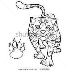 coloring page tiger paw tiger paw print coloring page vector stock vector 323280668