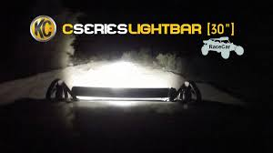 30 led light bar combo kc hilites off road light testing on race car 30 c series led