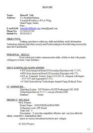 cv format example doc 13 slick and highly professional cv