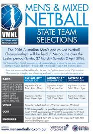 men s men s and mixed netball netball victoria