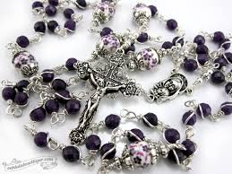 purple rosary purple jade unbreakable rosary purple rosary communion gift