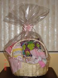 baby shower baskets photo organic baby shower gift image