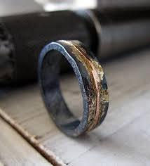 black gold mens wedding band mens wedding band rustic wedding band mens wedding ring oxidized