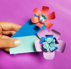 Easy Paper Craft For Kids - paper flower bookmarks an easy paper craft for beginners