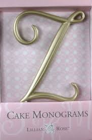 lillian cake topper z monogram wedding cake topper by lillian gold large